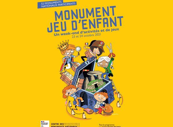 """Monument jeu d'enfant """"des fables et des masques"""""""
